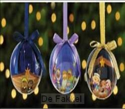 Set 3 decoupage ornaments kids