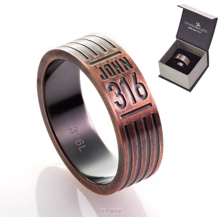 John 3:16 - Copper - Size 10 (20 mm)