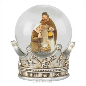 Waterglobe on crown base holy family