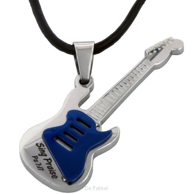 Necklace guitar/sing praises