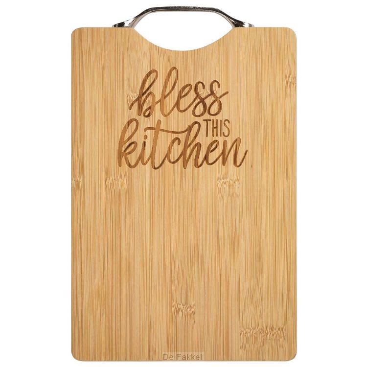 Bamboo Cutting Board Bless this kitchen