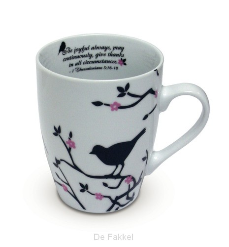 Ceramic Curvy Mug - 1 Thess 5:16-17 - 35