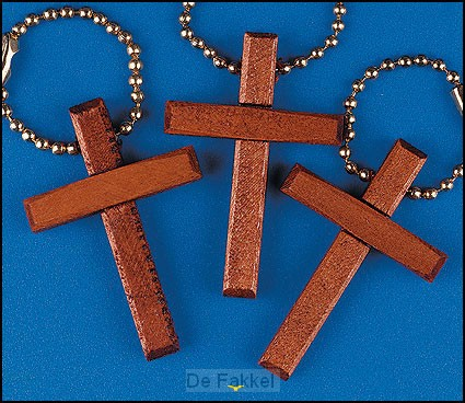 Keychain wooden cross