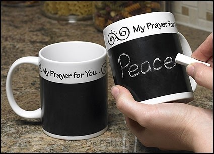 Mug prayer chalkboard